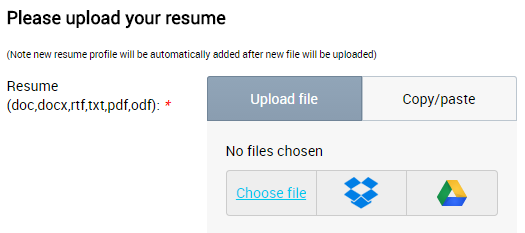 file upload google drive dropbox copy paste jobmount