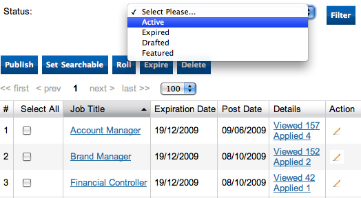 Job Posting Amp Applications Tracking Jobmount