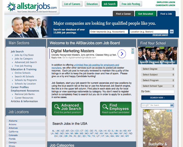 job board software client All Star Jobs