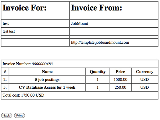 Employer payments credit card invoice6