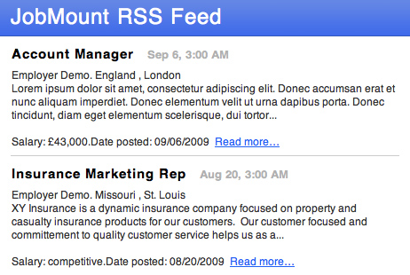 Jobs RSS feeds subscription 3