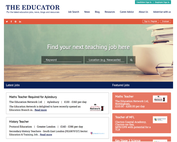 job board software client TheEducator