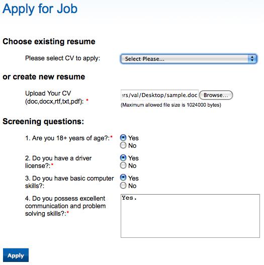 job search application process jobmount