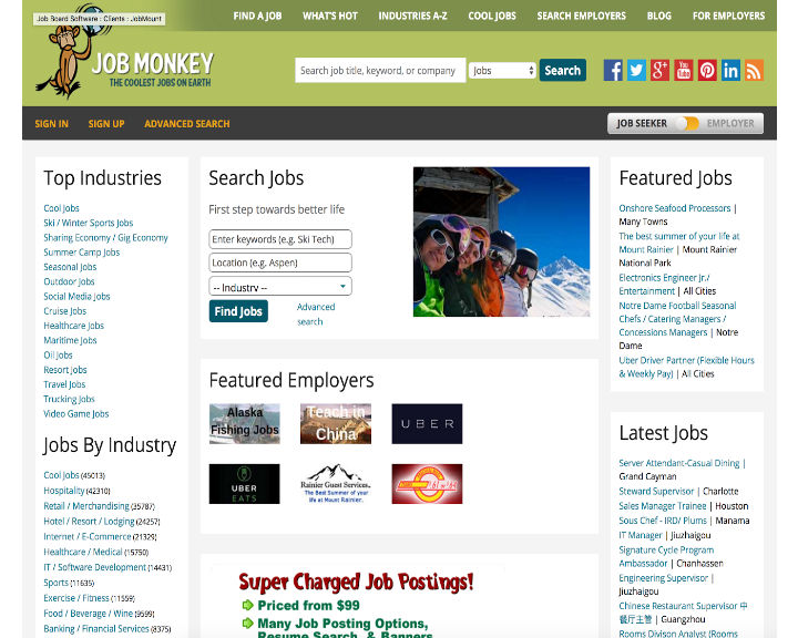 job board software client JobMonkey Jobs