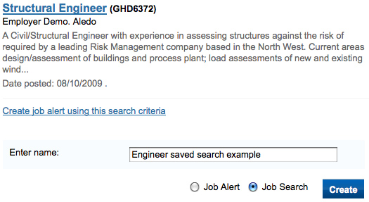 Saved job search 1