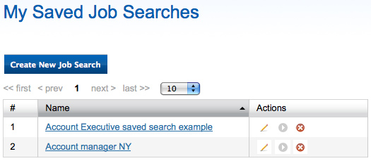Saved job search 2