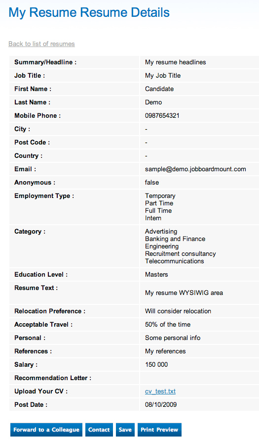 Search Resume 4  Job Search Resume