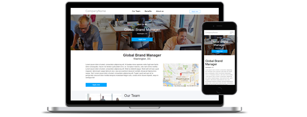 Employer branded job landing pages for job boards