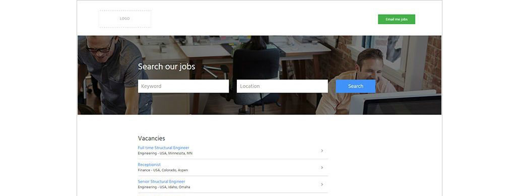 Employer branded sites got new clean templates