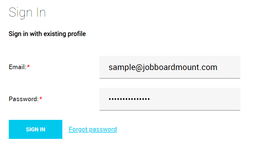Job seeker registration, login & profile editing 2