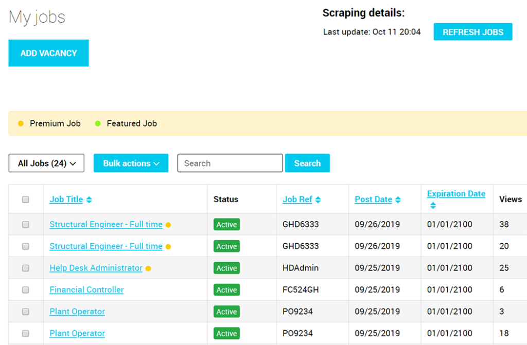 Improved Jobs Manager