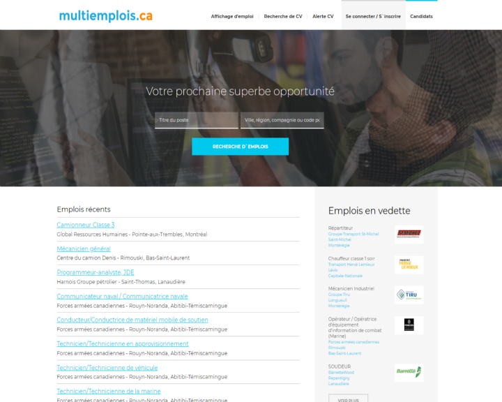 job board software client Multiemplois