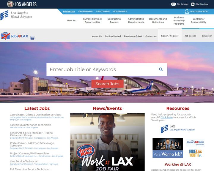 job board software client Jobs at Lax